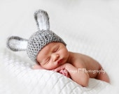 Download PDF crochet pattern 031 - Bunny hat - Multiple sizes from newborn through age 4