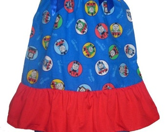 Pillowcase Dress & Pants Set Thomas The Train Dress Boutique New 6/9M 12/18M 24M/2T 3t/4T 5/6 Pageant