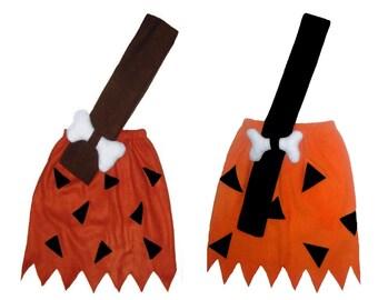 5/6 or 7/8 PAGEANT Flintstones Bamm Bamm Skirt Halloween Costume Boutique New