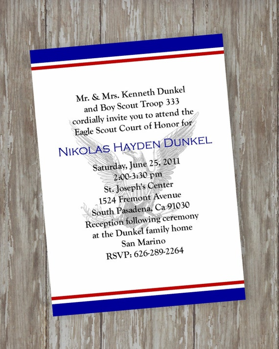 Eagle scout court of honor invitations by itsallaboutthecards for Eagle scout court of honor program template