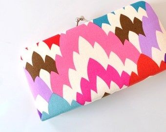 Feathered Petals - Small Flat  Clutch