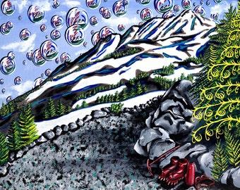 11 x 14 Mountaineering Giclée Print