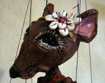 Ballerina Rat Marionette (Made-to-order)