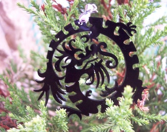 Chinese Black Dragon Pendant