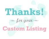 Custom Listing for Vikanda Gonzales