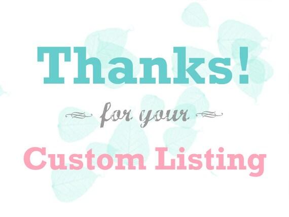 Custom Listing for Vikanda Gonzales