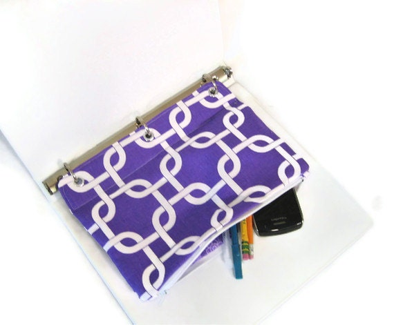 binder pencil case purple organizing pencil pouch for 3 ring