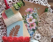 Garden Page Kit - vintage style trims & embellishments
