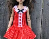 MSD short dotty dress and bloomers- Planetdoll/ Kaye Wiggs