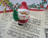 Vintage, Retro, Santa Claus, Vintage Ornament to put over a Christmas Light, Holiday Decor.