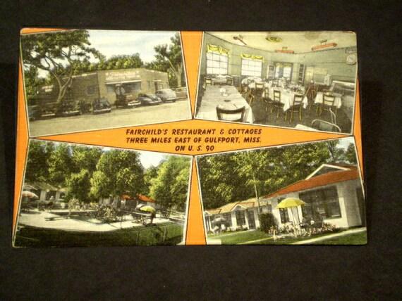 orig motel Fairchild's Restaurant & Cottages GULFPORT MISS
