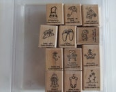 Free Shipping and Discounted..A Little Love Stampin Up Rubber Stamp Set