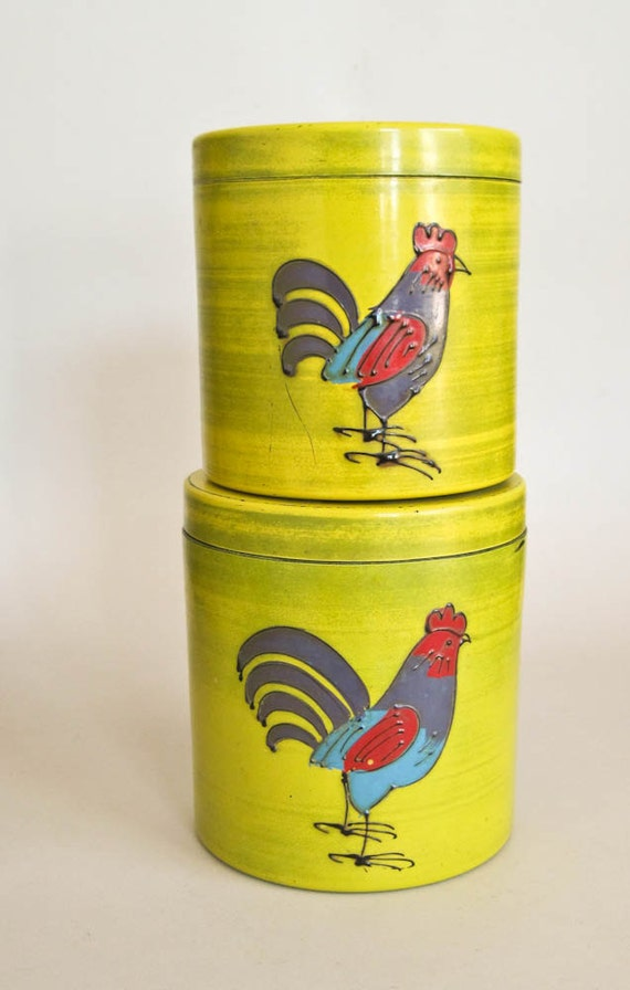 Chicken Storage Canisters Pair