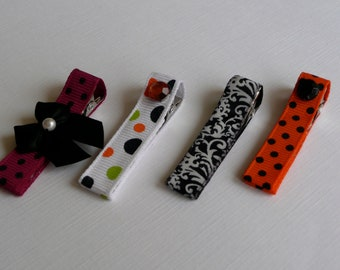"""Halloween Infant Hair Clip Bows for Baby and Girls (1 3/4"""" Alligator Clips)"""