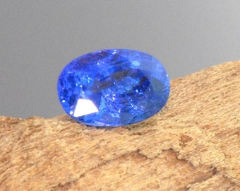 Tanzanite faceted oval natural gemstone AAA 1.5 cts
