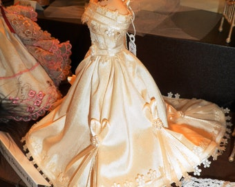 1-12th Scale miniature wedding gown.