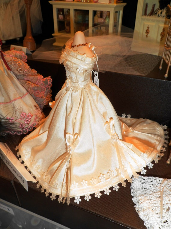 Items Similar To 1 12th Scale Miniature Wedding Gown On Etsy