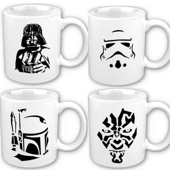 items similar to star wars inspired art four mug darth. Black Bedroom Furniture Sets. Home Design Ideas