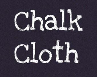 Black Wipe Clean Reusable Flexible Chalk Cloth, 1/4 Yard
