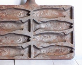 antique cast iron fish molds - wretchedshekels