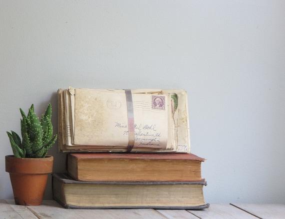 vintage 1930s stack of love letters