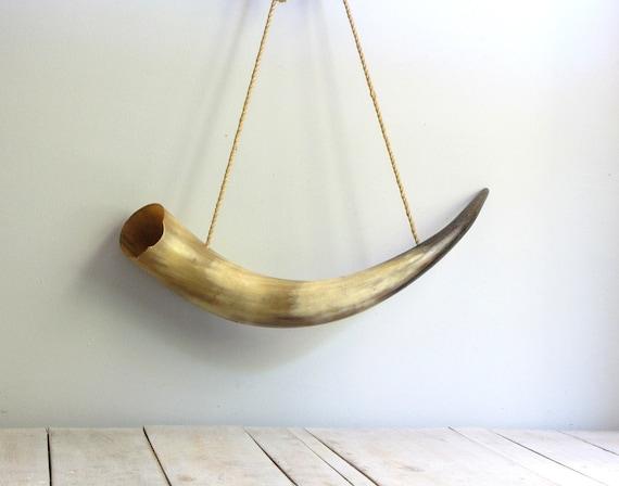 vintage bull horn