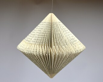 Spinner: folded Book Art Hanging Ornament