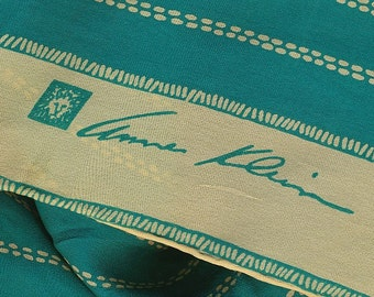 Teal turquoise to die for with cream yellow Anne Klein