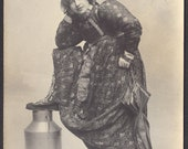 Lot of Two 1900s Societe Lumiere RPPC of Woman in Costume
