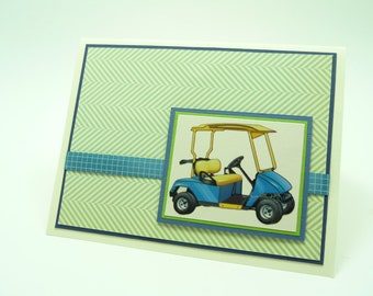 Happy Birthday Card for Him Golf Birthday Card Handmade Paper Greeting Card Mens Birthday Card Sports Birthday Card Card for Dad Preppy Card