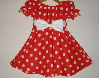 minnies red polka dot dress 10% off code is tilfeb sizes 5t. 6 or 7