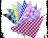 Retro Gingham Bandana in 9 colours, Retro Head Scarf, Rockabilly Hair Scarf