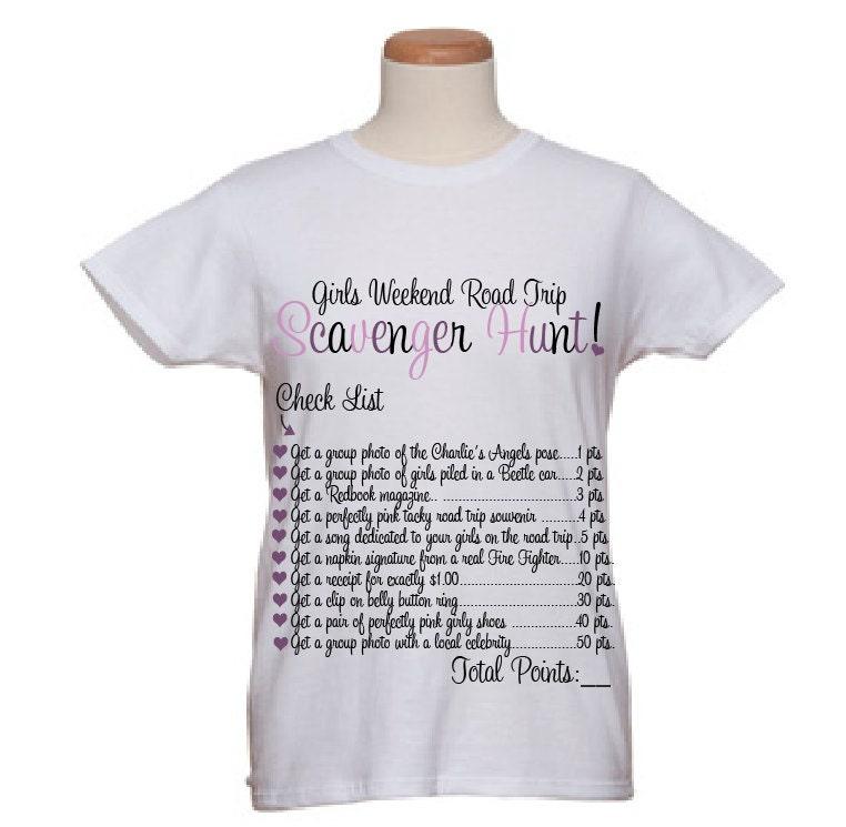 Weekend Trip Ideas: Event T-Shirts-Girls Weekend Road Trip By WicksnCandlesticks