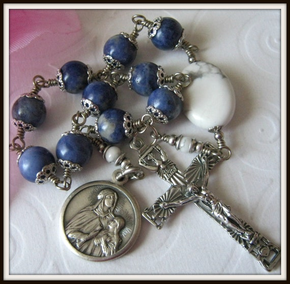 St. Anne Rosary, Wire Wrapped Unbreakable Rosary