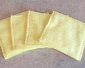 Microfiber Hand Mitts- Set of 4- YELLOW- 26003