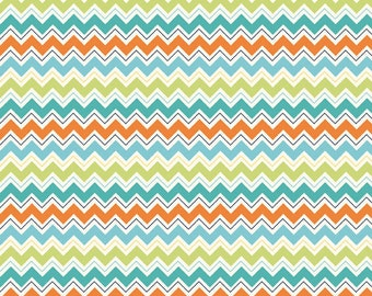 Dress Up Days Chevron Aqua by Doohikey Designs for Riley Blake, 1 yard