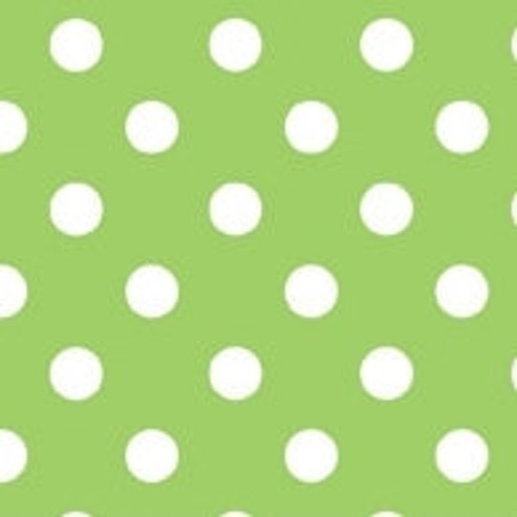 Christmas Candy Green Dots by Doodlebug Designs Inc for Riley Blake, 1/2 yard, LAST ONE