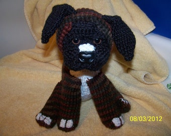 Crochet Boxer puppy dog brindle boxer ANY colors you want ANY dog breed you want