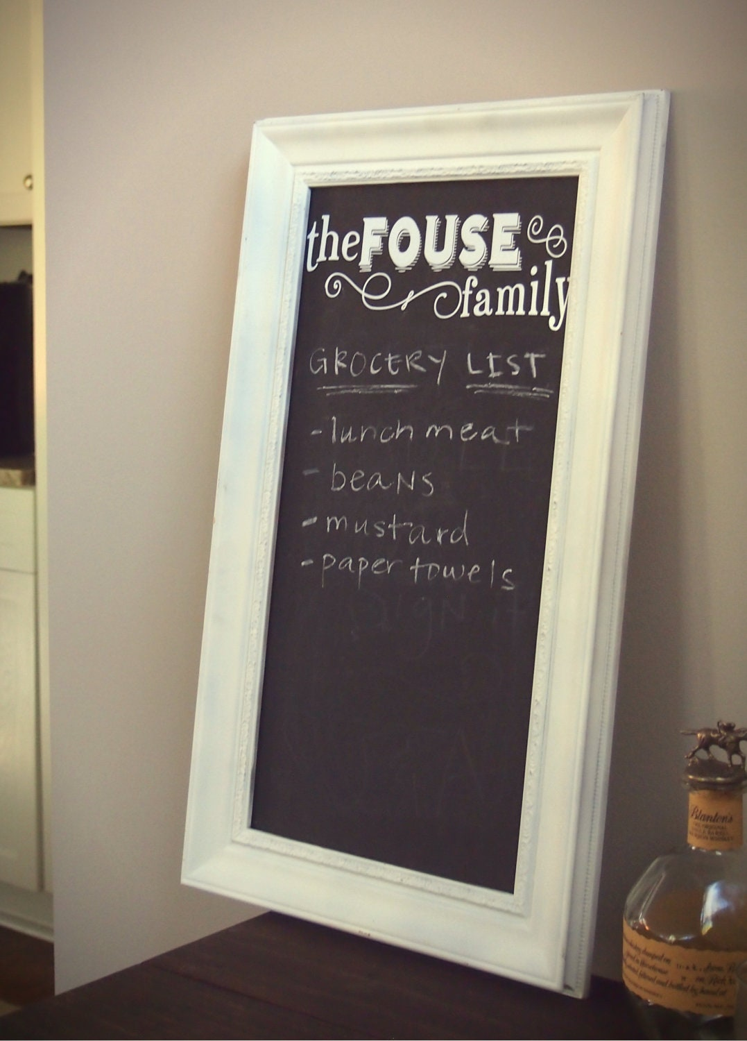personalized chalkboard sign for the kitchen by