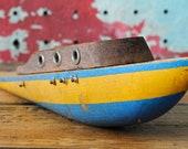 Vintage Wood Toy Pond Boat