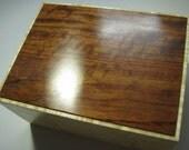 Handcrafted Tiger Maple and Bubinga Keepsake Box