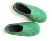 Mens Springtime Eco friendly Felted Wool Slippers Apple Woods. All sizes for Men. - ekohaus