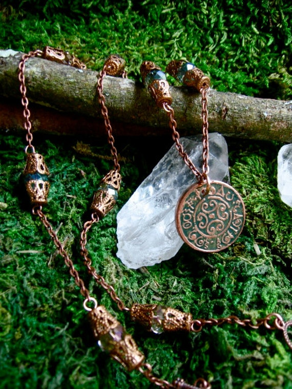 Faerie Sight- Wishing Coin Necklace