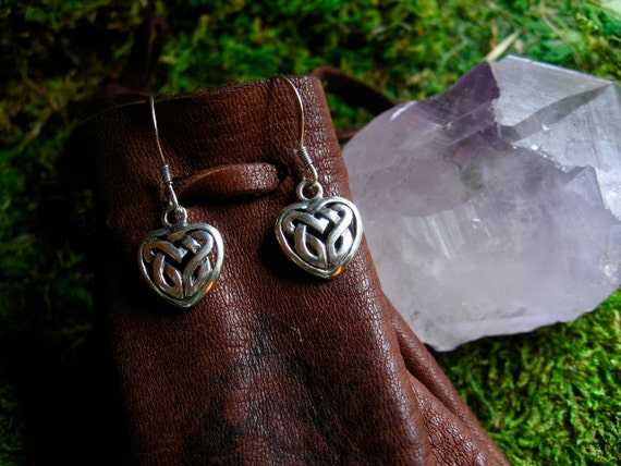 RESERVED- Celtic Heart Earrings