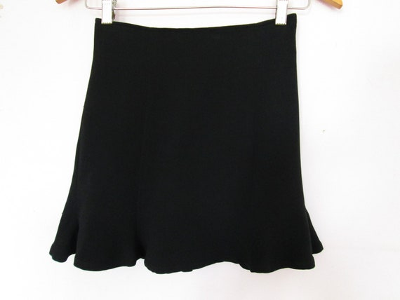 90's Todd Oldham black mini skirt -  size - S/XS