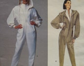 "Claude Montana Hooded Jumpsuit Pattern, Vintage, Tapered Pants,  Vogue Paris Designer No. 2598 Size 12 14 (Bust 34-36"", 87-38cm)"