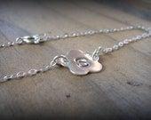 Personalized Silver Flower Bracelet/Anklet