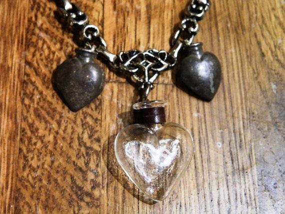 sacred ex voto hearts necklace