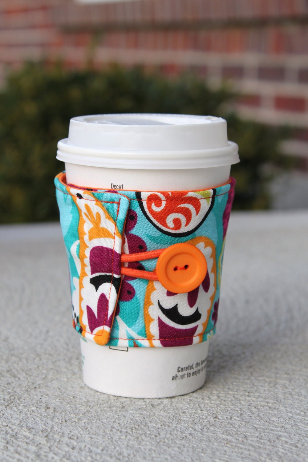 Fabric coffee cup wrap coffee sleeve multicolored funky - Funky espresso cups ...