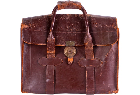 Antique Leather Bag Sachel